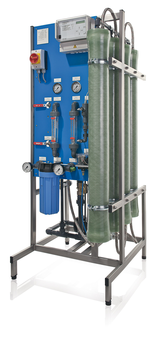 Reverse Osmosis Units Series UO 600 - 1500 ND.For desalination of softened drinking water according to German drinking water regulations With controller RO 1000.